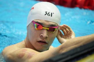 Sun Yang entrena en Gwanju, este sábado.