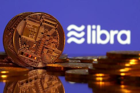 Recreación gráfica de Libra, la criptomoneda de Facebook.