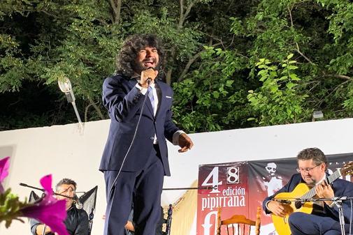 Rancapino Chico, durante su actuación en el Festival de Mancha Real.
