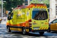 Una ambulancia del Sistema de Emergencias Médicas.