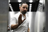 Santiago Abascal, en un ascensor del Congreso de los Diputados