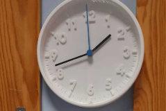 Termómetro a las 13.43 horas el pasado viernes, en la escuela El Trébol.