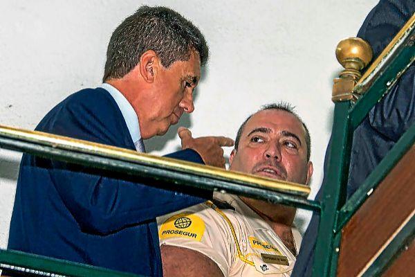 Jaume Matas, en su primera declaración judicial por el 'caso Son Espases'.