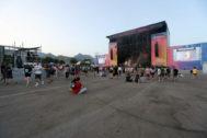 El escenario principal del FIB, prácticamente vacío, este domingo, durante una de las actuaciones.