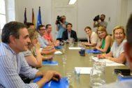 Biel Company preside la reunión del Grupo Parlamentario del PP el pasado 8 de julio.