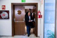 Alfonso Rus durante su comparecencia en la comisión de investigación de las Cortes.