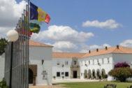 Exterior de la sede iberoamericana de La Rábida en Huelva.
