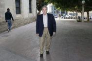 Luis Díaz Alperi el día que declaró en el juicio.