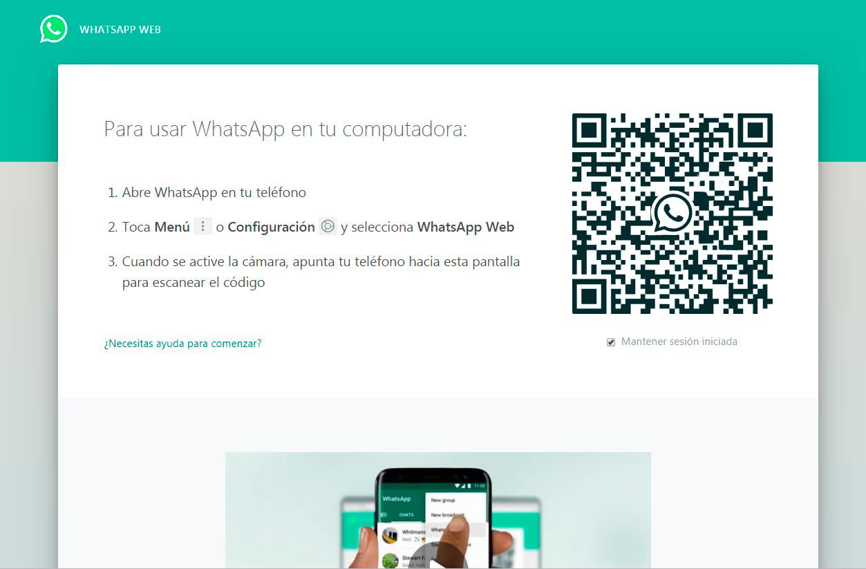 Resultado de imagen de wassap web