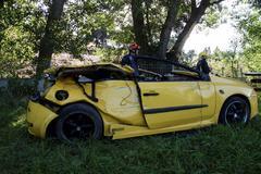 El conductor del accidente en el que murieron 4 jóvenes da positivo en alcohol y drogas