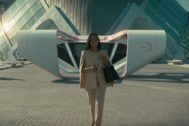 Tessa Thompson en la Ciudad de las Artes y las Ciencias de Valencia, localización de la tercera temporada de Westworld en HBO