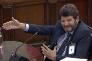 El teniente de alcalde de Seguridad de Barcelona, Albert Batlle, durante su declaración como testigo en el Tribunal Supremo durante el juicio del 1-O.