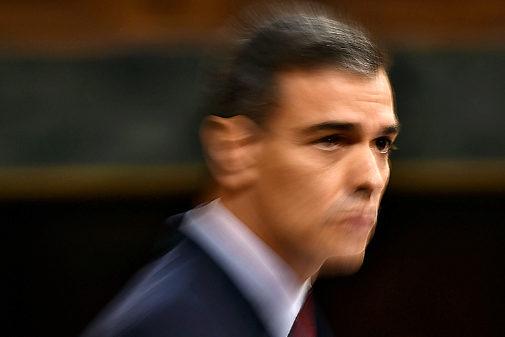 Pedro Sánchez, durante su intervención en el Congreso