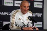 Zidane, durante su rueda de prensa en Washington.