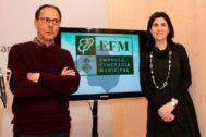 El gerente de la EFM, Jordi Vilà, con la exedil de Unidas Podemos y hoy diputada regional Antònia Martin.