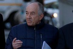 El ex gobernador del Banco de España Miguel Angel Fernandez Ordoñez a su entrada de la Audiencia Nacional