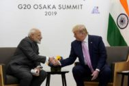 Donald Trump junto a Narendra Modi, en el G-20 de Osaka, en Japón.