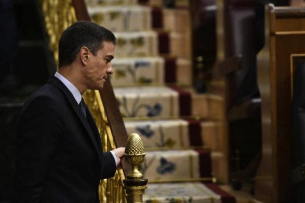El candidato a la Presidencia del Gobierno, Pedro Sánchez, este...