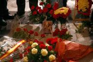 Homenaje al dictador Franco en su tumba en el Valle de los Caídos