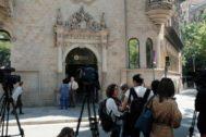 Imagen de la Diputación de Barcelona durante el operativo policial
