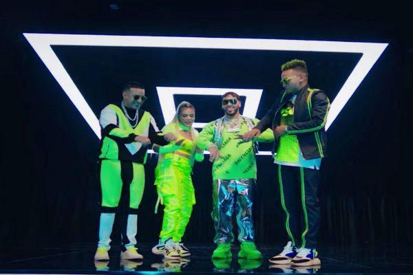 Daddy Yankee, Karol G, Anuel AA y Ozuna en el vídeo de China, un...
