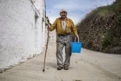 Vidal, 90 años, vecino de Fuentes de Ágreda (Soria).