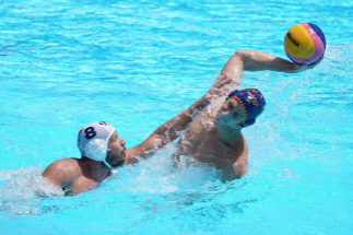 Gwangju (Korea Republic Of).- Alberto Barroso Macarro of Spain (R) in action against Nikola Dedovic of Serbia (L) during the men's <HIT>water</HIT> <HIT>polo</HIT> Quarterfinal match between Serbia and Spain at the FINA Swimming World Championships 2019 in Gwangju, South Korea, 23 July 2019. (Corea del Sur, España) EPA/