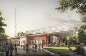 Imagen virtual del proyecto de ampliación del Museo de Bellas Artes de Bilbao diseñado por Norman Foster.