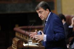 Aitor Esteban, durante su intervención en el Congreso