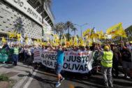 Manifestación de los agricultores andaluces en Sevilla el pasado 9 de julio.