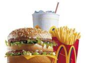 Un menú Big Mac.
