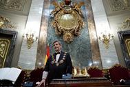 El presidente del CGPJ, Carlos Lesmes, durante una toma de posesión en el Supremo