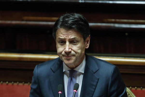 Rome (Italy).- Italian Prime Minister Giuseppe <HIT>Conte</HIT>...