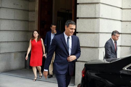 Pedro Sánchez, a su salida del Congreso el pasado martes
