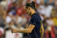 AME9718. WASHINGTON (ESTADOS UNIDOS), 23/07/2019.- Gareth <HIT>Bale</HIT> del Real Madrid reacciona este martes, durante un partido de la Copa Internacional, en el Fed Ex Field de Washington (EE.UU.).