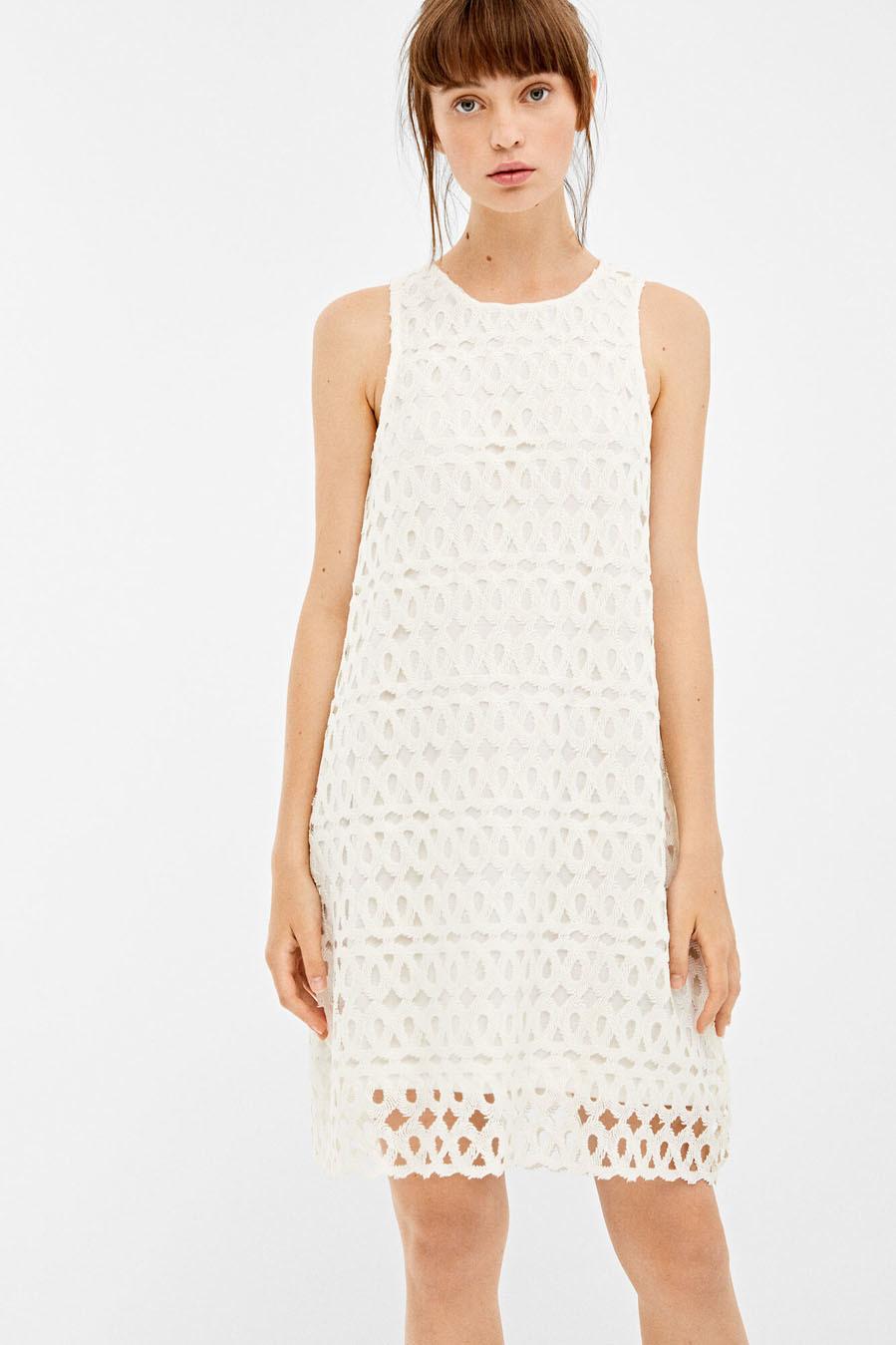descuento hasta 60% venta usa online 2019 mejor Vestido blanco con calados, de Springfield | Moda | EL MUNDO