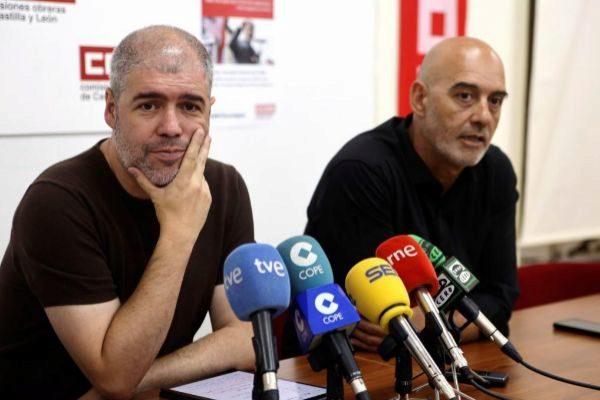 Unai Sordo, secretario general de CCOO, en una reciente comparecencia ante los medios de comunicación.
