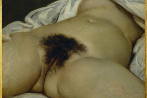 'El origen del mundo' de Gustave Courbet, en el Museo d'Orsay.