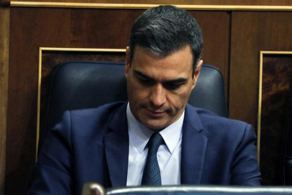 Pedro Sánchez, este jueves en la sesión de investidura fallida.