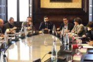 Imagen de archivo de la Mesa del Parlament