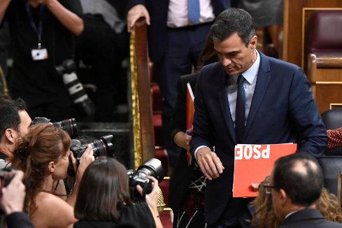 El Congreso tumba la elección de Sánchez con 155 'noes' y 67 abstenciones