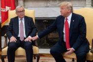 Juncker y Trump, en el Despacho Oval de la Casa Blanca en julio de 2018.