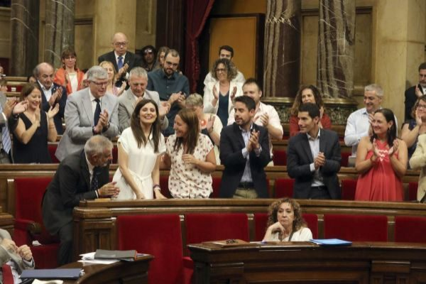 Antonio Moreno 24.07.2019 Barcelona Cataluña.Lorena Roldan Cs despues...