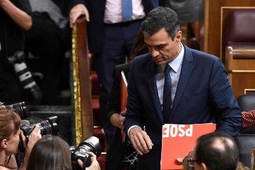 El Congreso tumba la investidura de Sánchez con 155 'noes' y 67 abstenciones