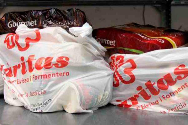 Productos recogidos en las Pitiusas para los usuarios de Cáritas.