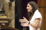 Lorena Roldán, en un pleno celebrado en el Parlament el pasado miércoles.