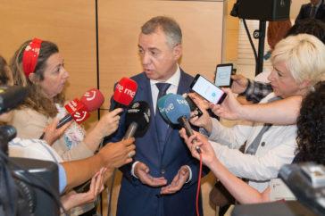 El lehendakari, Iñigo Urkullu, se pronuncia sobre sobre lo ocurrido ayer en el Congreso.