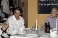 Don Juan Carlos con Rafa Nadal en Mallorca.