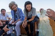 Doña Sofía participando en el proyecto Libera contra la basura en el Mediterráneo.