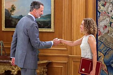 El Rey urge a negociar  tras reunirse con Sánchez